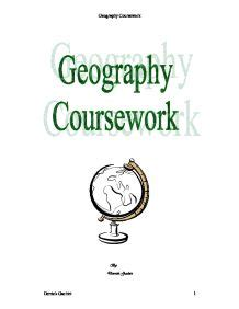 Geography gcse settlement coursework
